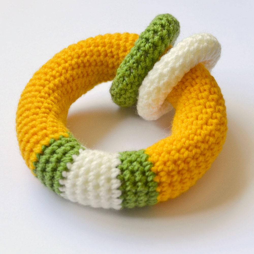 Amigurumi Crochet Rattle Loop Baby Toy by Yillup on Etsy