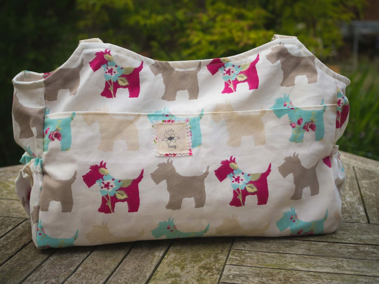 Scottie dog bag baby change bag nappy bag diaper bag large purse baby shower gift mum to be gift large bag new baby gift