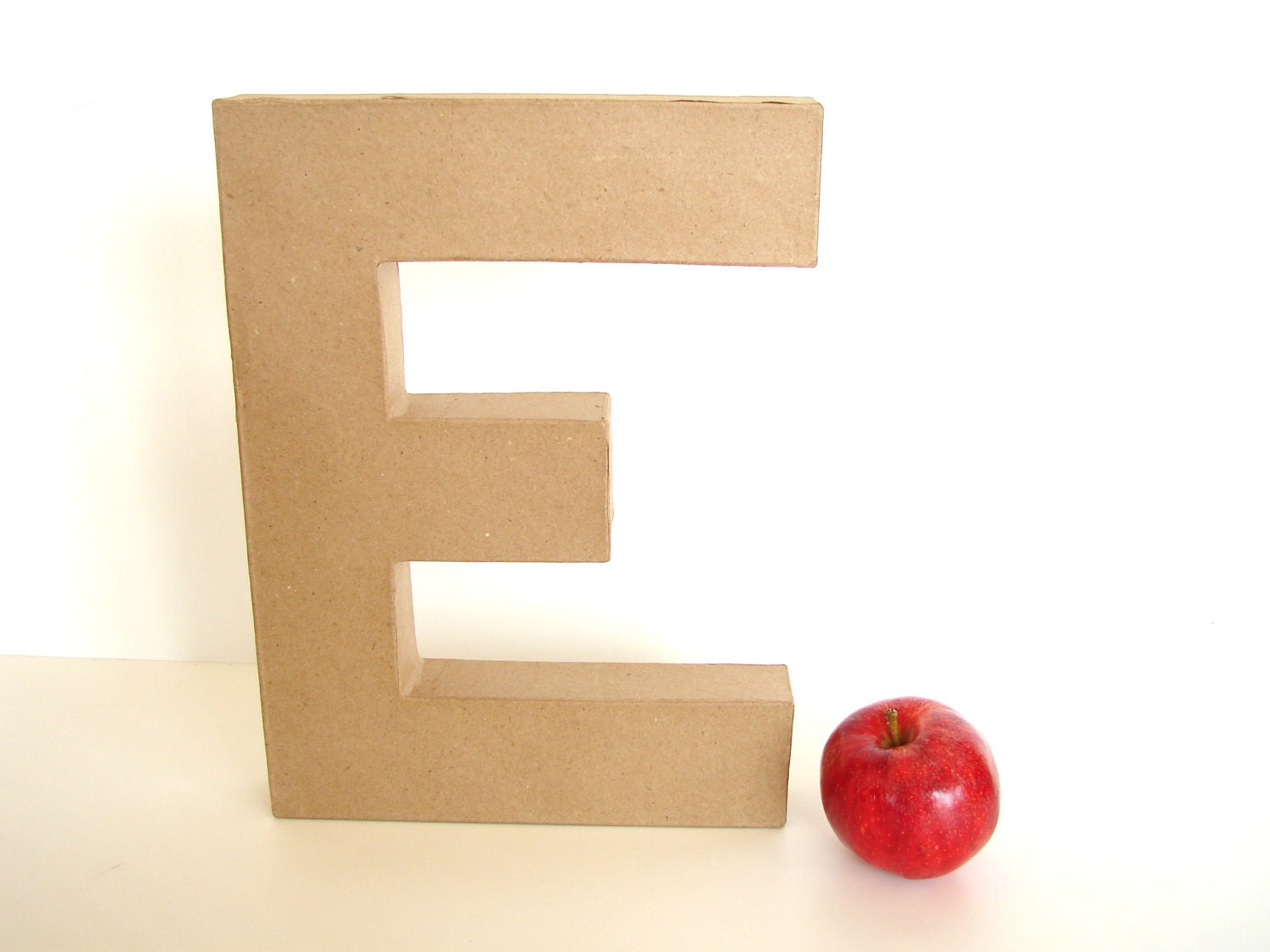 "Paper Mache Letter E (12"" tall) - Ready to Decorate Blank Letter, Home Decor, and more - ThirdShift"