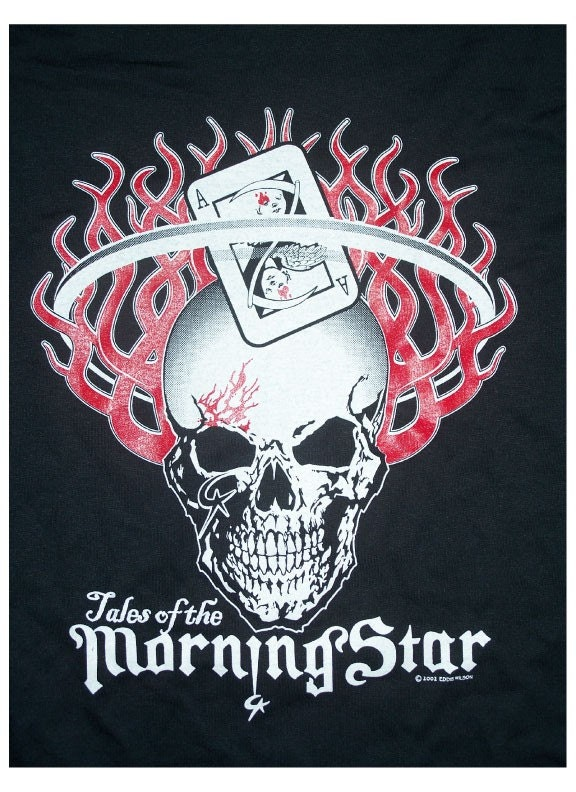 Morning Star Flaming Skull Tshirt XL long sleeve