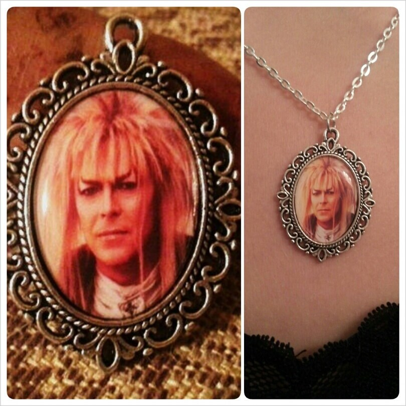 labyrinth jareth pendant cameo necklace