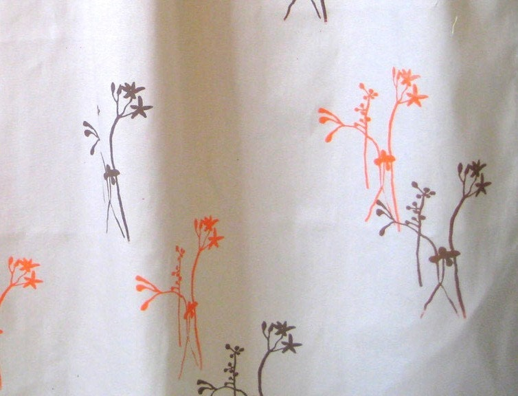 Brown And Orange Late Blooms Shower Curtain By Appetitehome