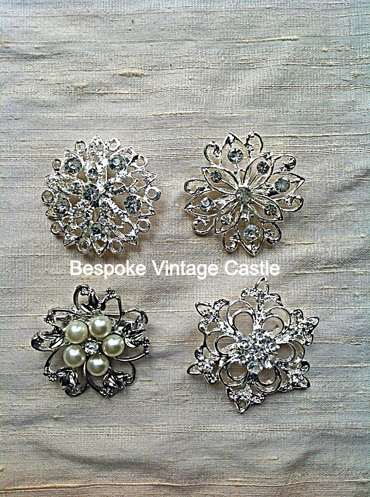 Crystal brooch brooch brooches brooches for crafts Silver Crystal brooch brooches for brooch bouquet