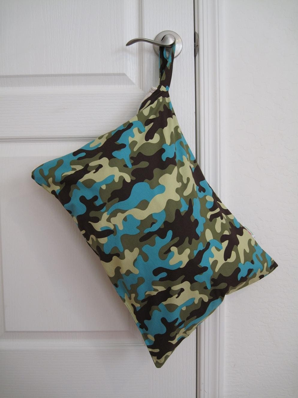 Large Wet Bag (14x20), Michael Miller CAMO, Cloth Diapers, Swim Suits, Gym, Travel