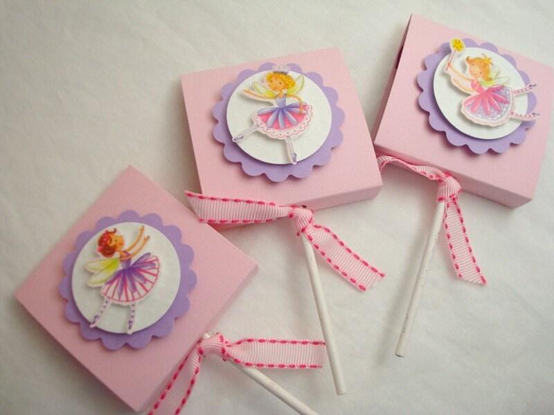 Pink Garden Fairy Lollipop Favors, Set of Ten