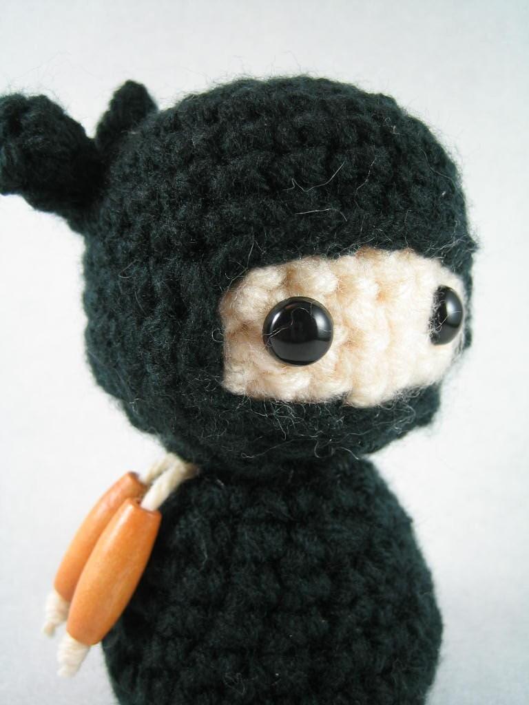 Jiro Ninja amigurumi kokeshi doll