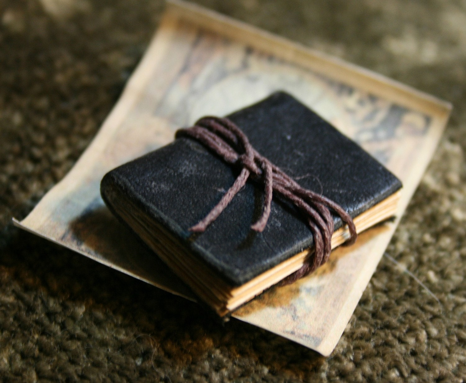 Miniature Leather Book of Maps
