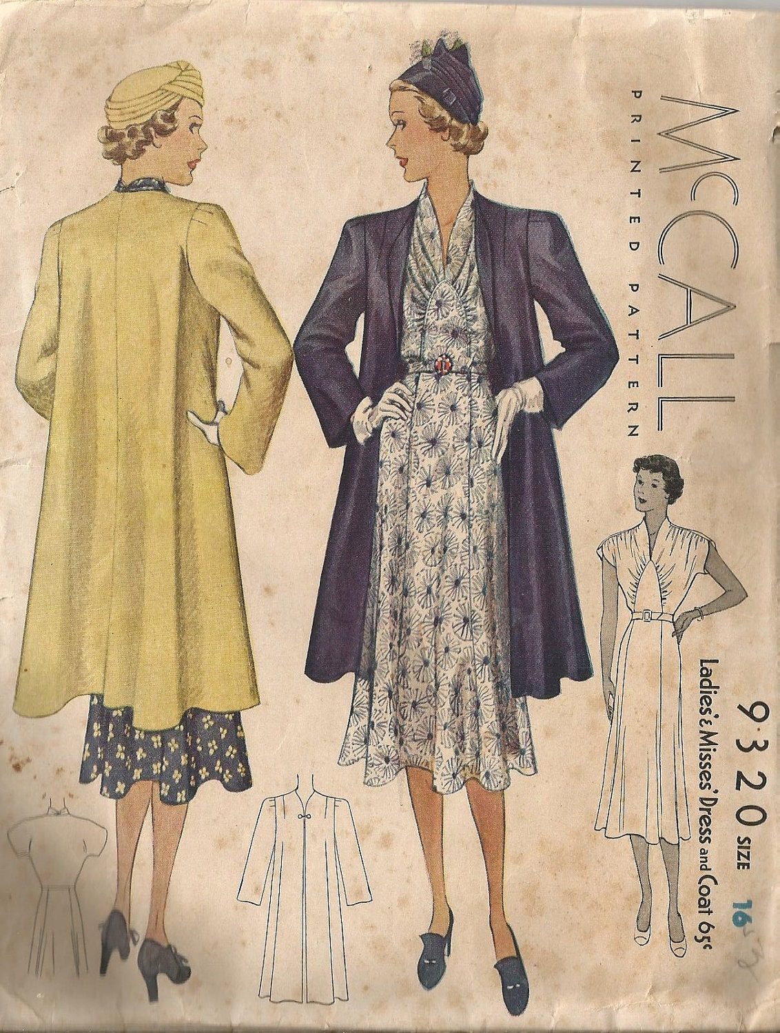 1930s McCall dress pattern | 1930s Clothing and Patterns ...