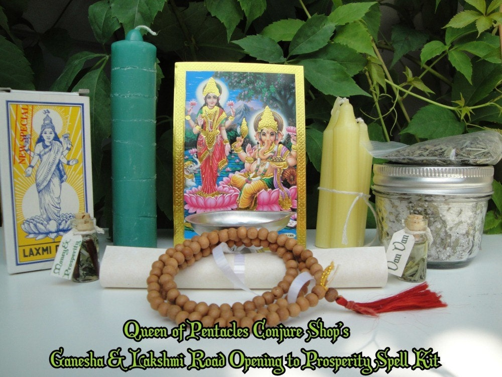 Ganesha and Lakshmi Road Opening to Prosperity Spell Kit