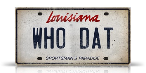 1 Louisiana License Plate