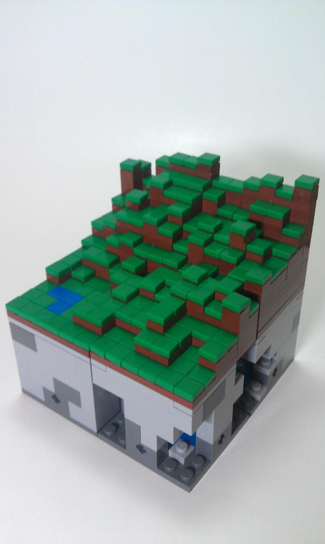 how to make a lego minecraft grass block