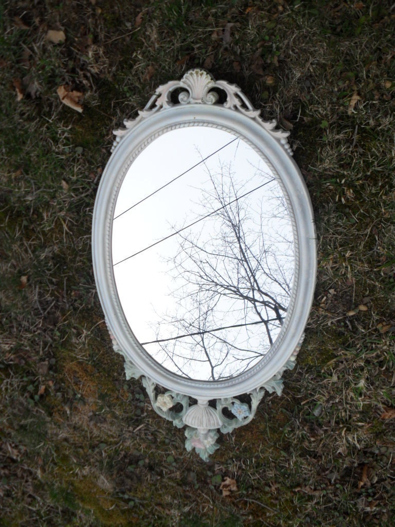 Vintage ornate shabby chic mirror featured in a Treasury