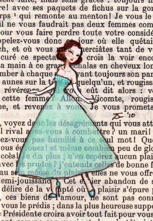 Open Edition ACEO Print - Paris, 1956 - Dita Dances, Club St Germain, St Germain