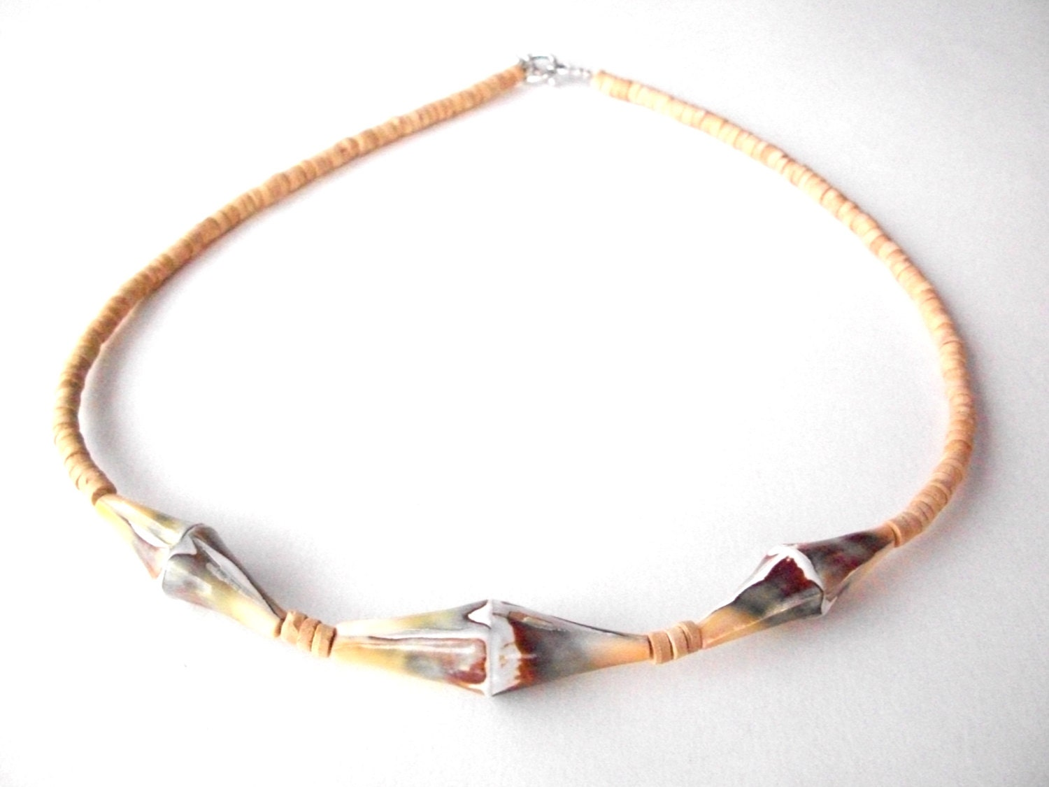 s necklace lisway bamboo shell necklace green by