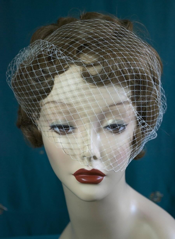 Asymmetrical Birdcage Veil