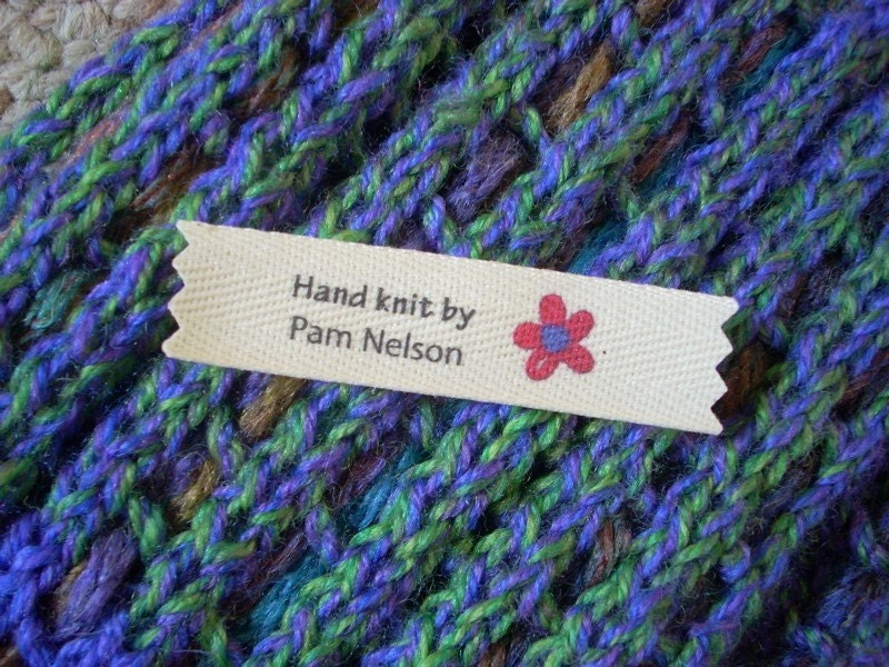 Knitting Labels Custom : Personalized knitting labels knit by mountainstreetarts on