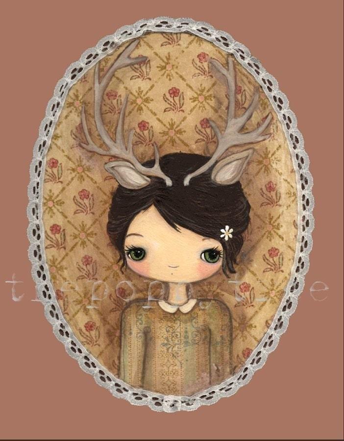 A Deer Girl Print