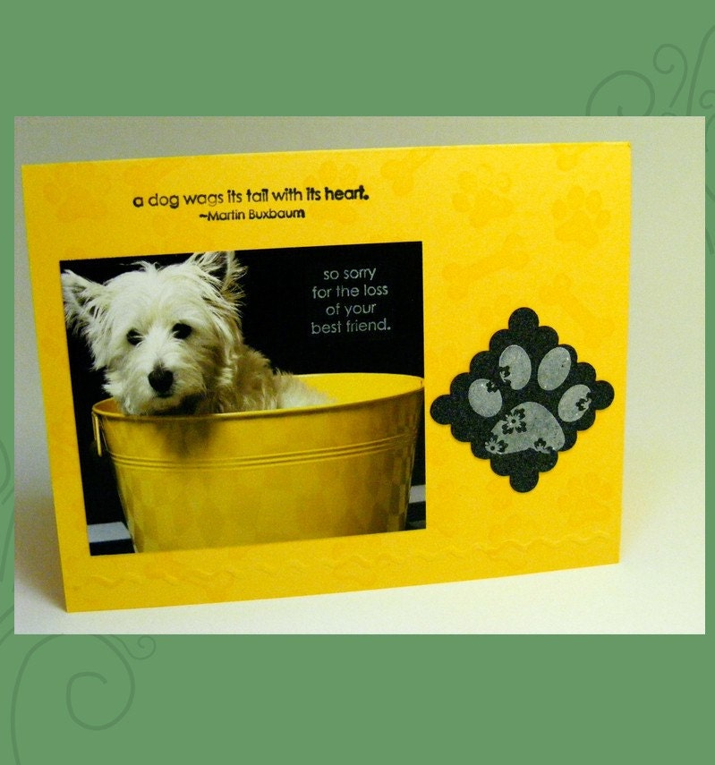 Handmade 'Loss of Pet' Sympathy Card