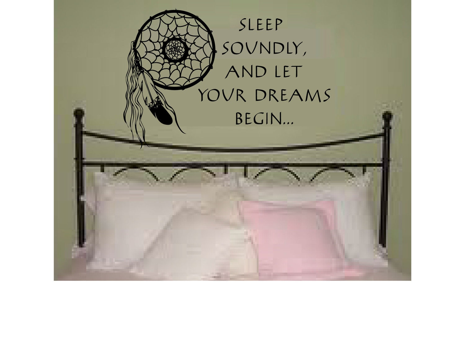sweet dreams with dreamcatcher wall art sticker on the hunt dreamcatcher wall decal
