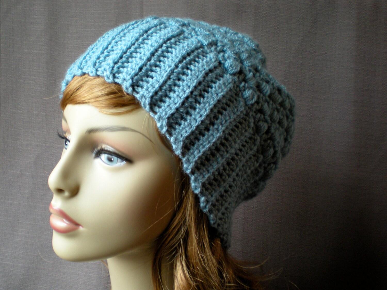 : Tia Hat, easy crochet PDF, slouch beanie, adult, teen, fall winter ...