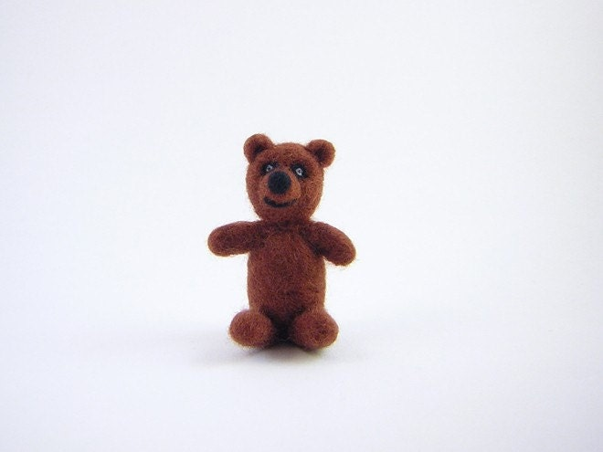 Crazy Bear. A needle felted animal
