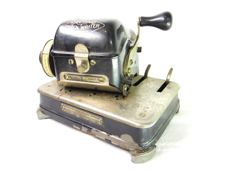 antique check writing machine