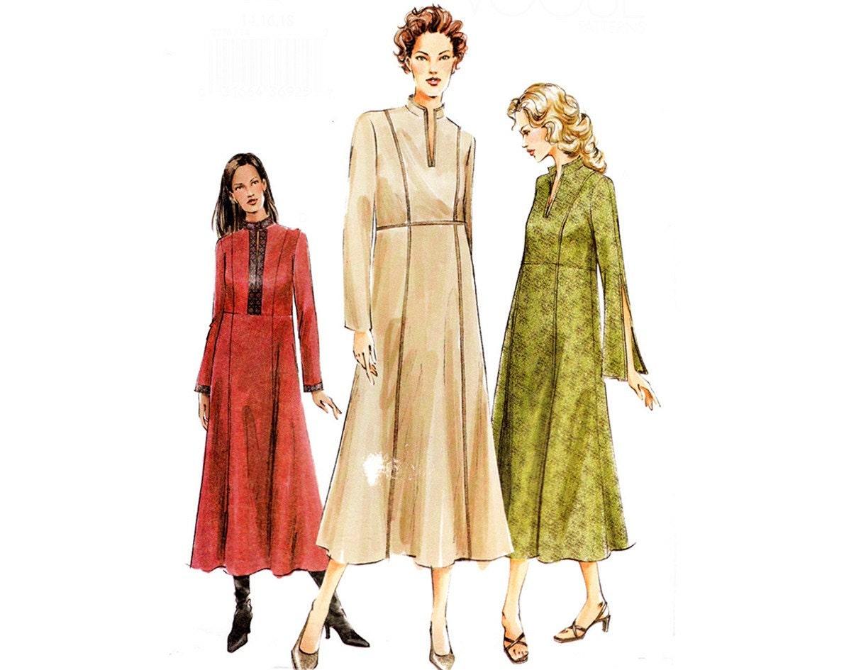 Week sale modern dress pattern 2000s sewing pattern maxi dress