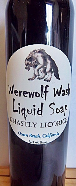 Werewolf Wash Liquid Soap in Ghastly Licorice-