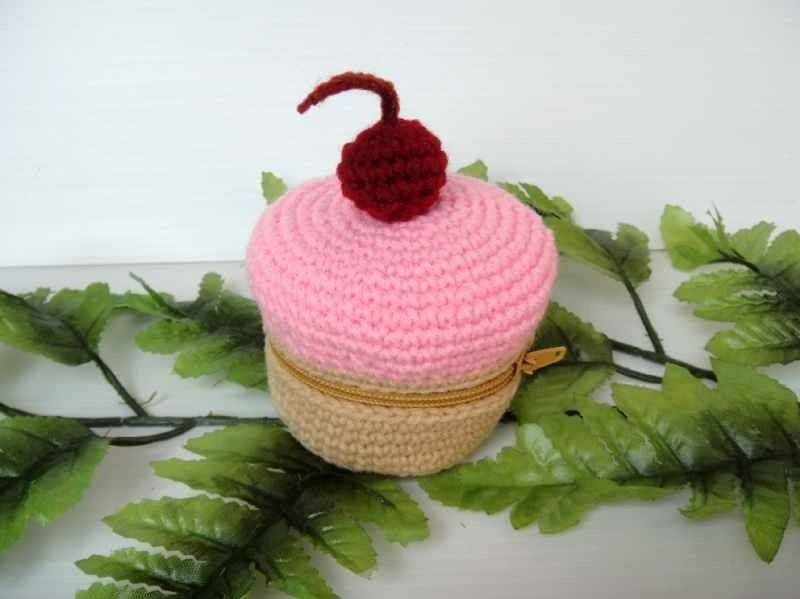 Crochet Food Purse - CUPCAKE