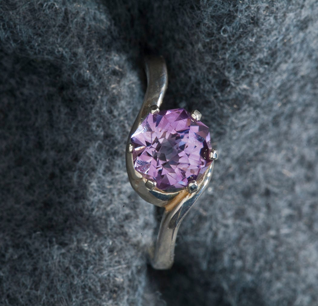 Amethyst Rose Petal 1.78ct Alternative Engagement Ring