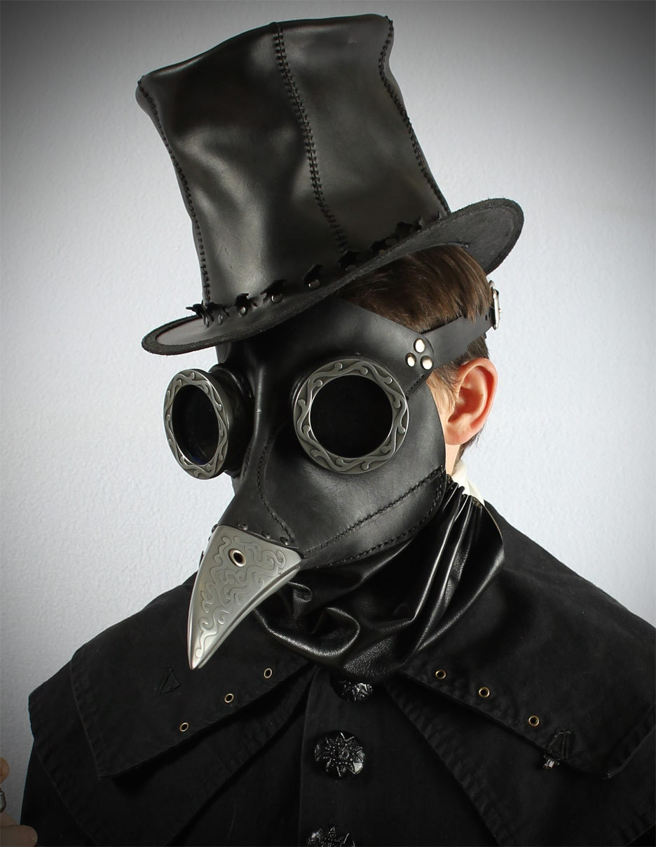 "Steampunk Plague Doctor Mask in black ""Ichabod"" - TomBanwell"