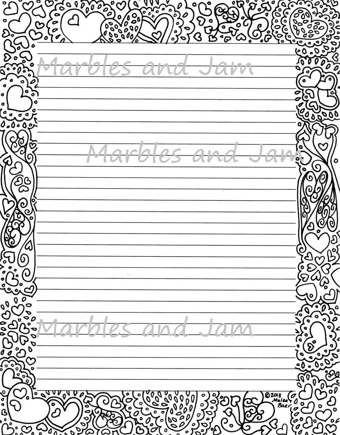 Doc463600 Lined Border Paper Printable Lined Paper with – Lined Border Paper