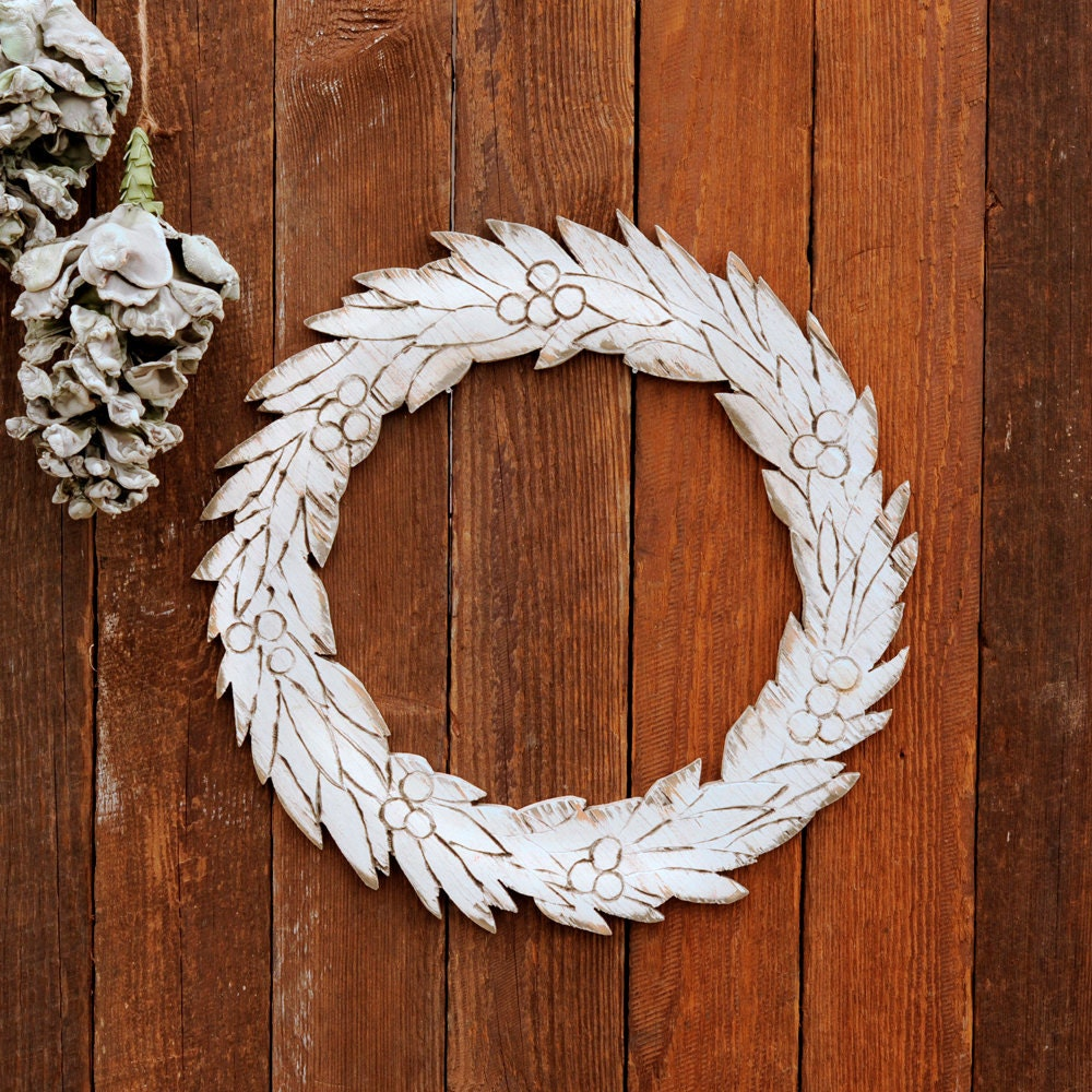 Wooden winter wreath holiday decor christmas by