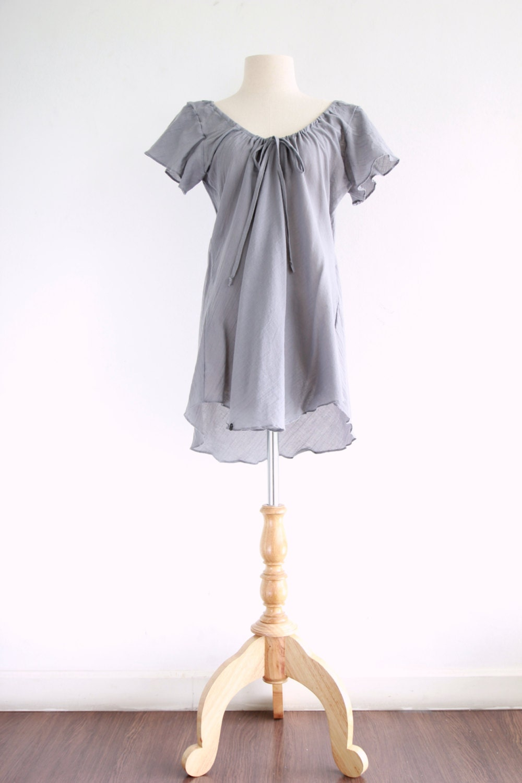 Gray Cotton Blouse 33