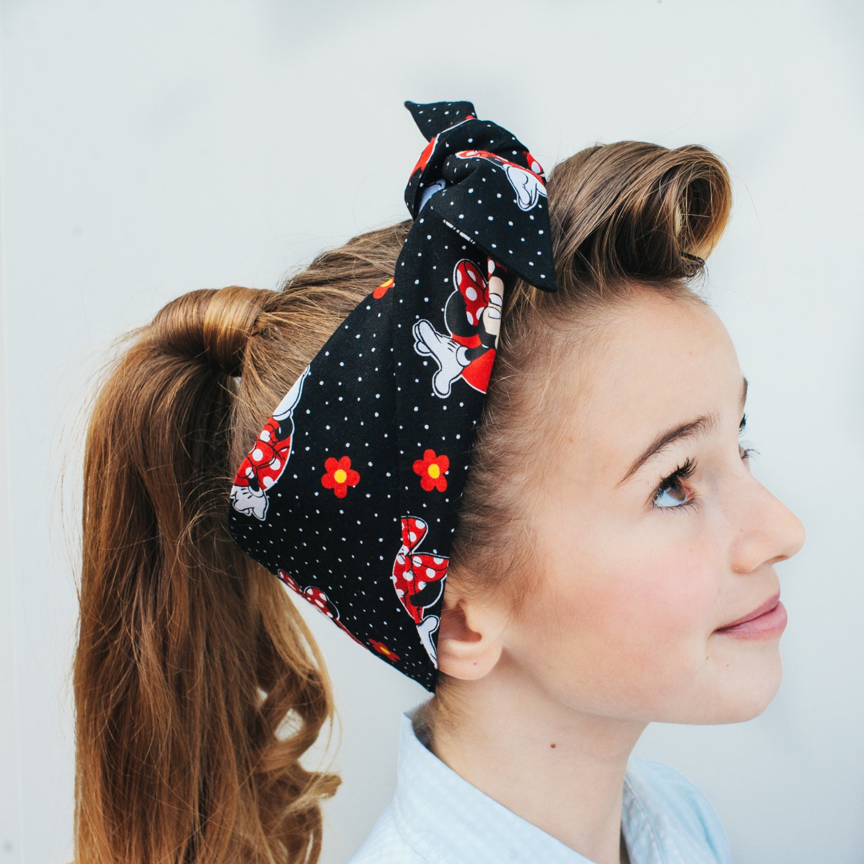 Rock Rockabilly 50s Pin up Girls Minnie Mouse headband headscarf MINNIE