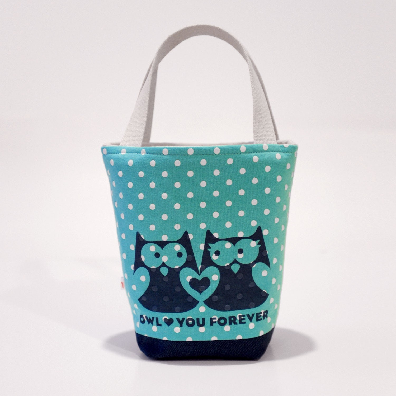 Owl Teal Tote
