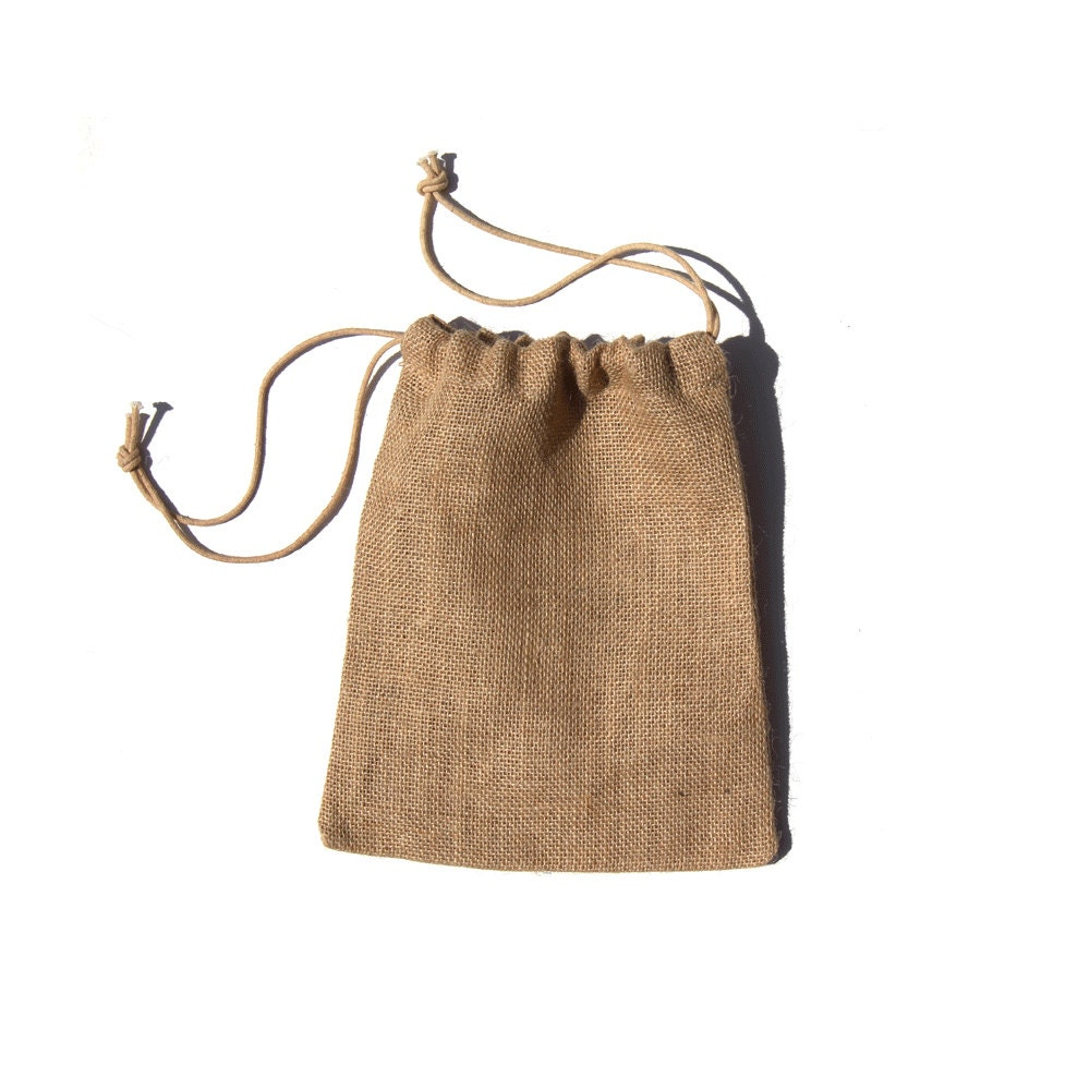 8 x 10 burlap jute bags pouches for wedding gift by for Burlap bag craft ideas