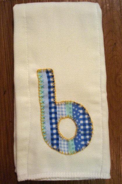 baby monogram cloth diaper burp cloth