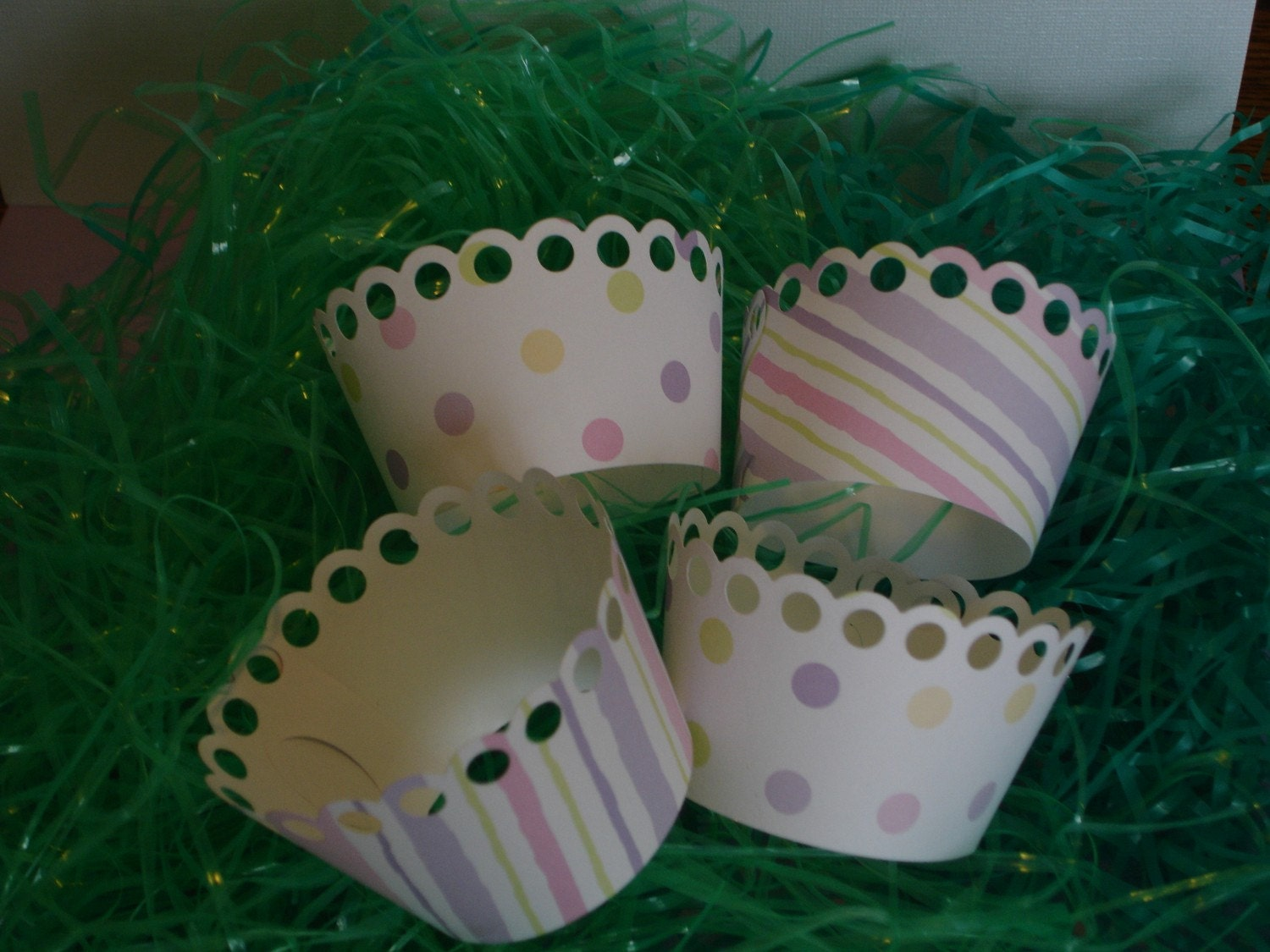 Polka dot and Strip Easter Wraps