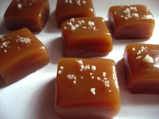 Fleur de Sel Vanilla Caramels - Organic - Vegan - Dairy Free - One Pound