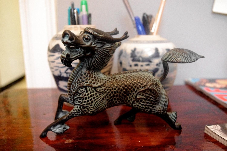 Vintage Dragon Figurine