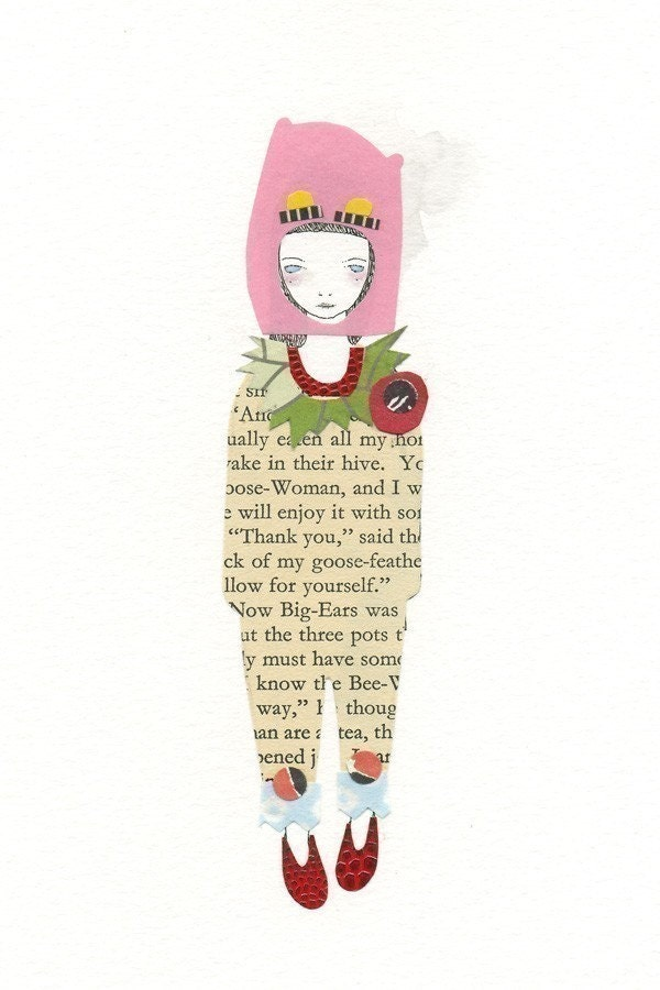 A Little Papercut (Pink) - Print