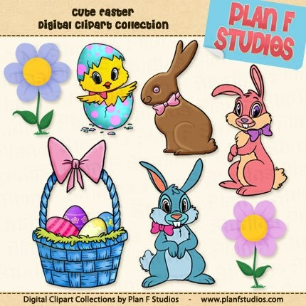 target audience clipart. cute easter bunnies clip art.