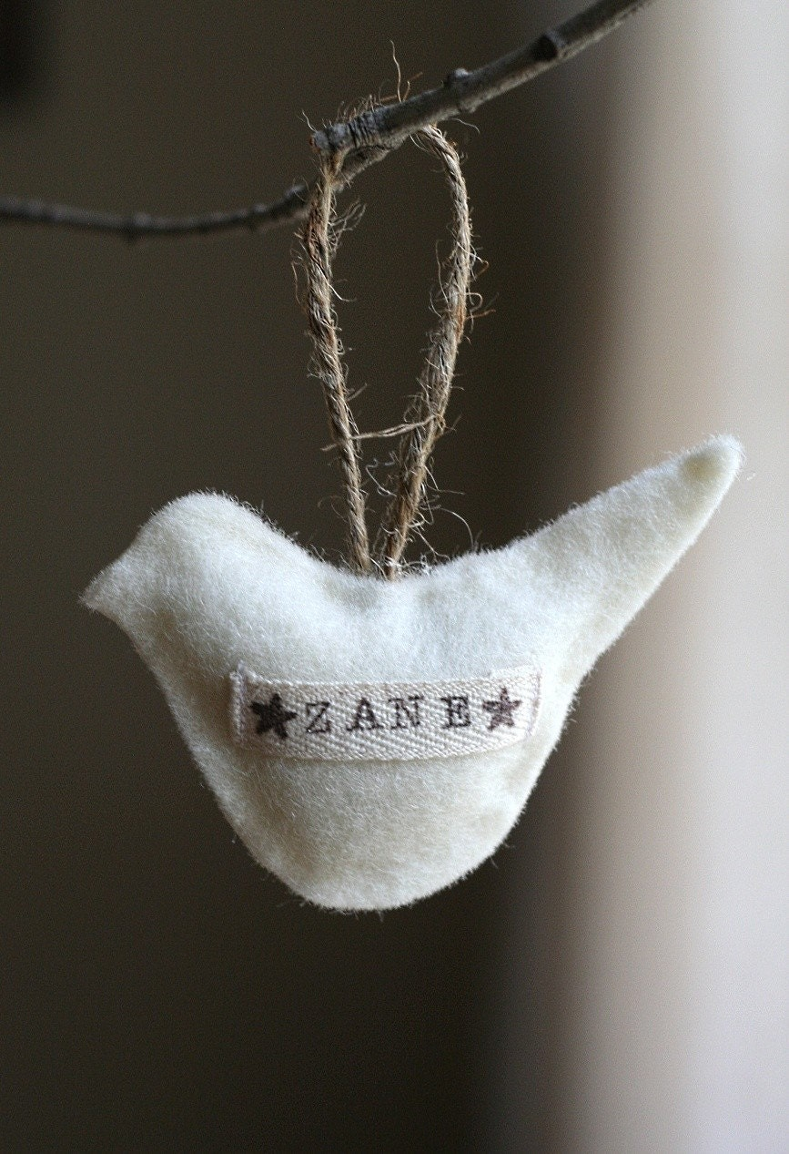 maternalNEST 2010 Custom Keepsake Bird Ornament-- perfect for baby's first christmas-- with keepsake box