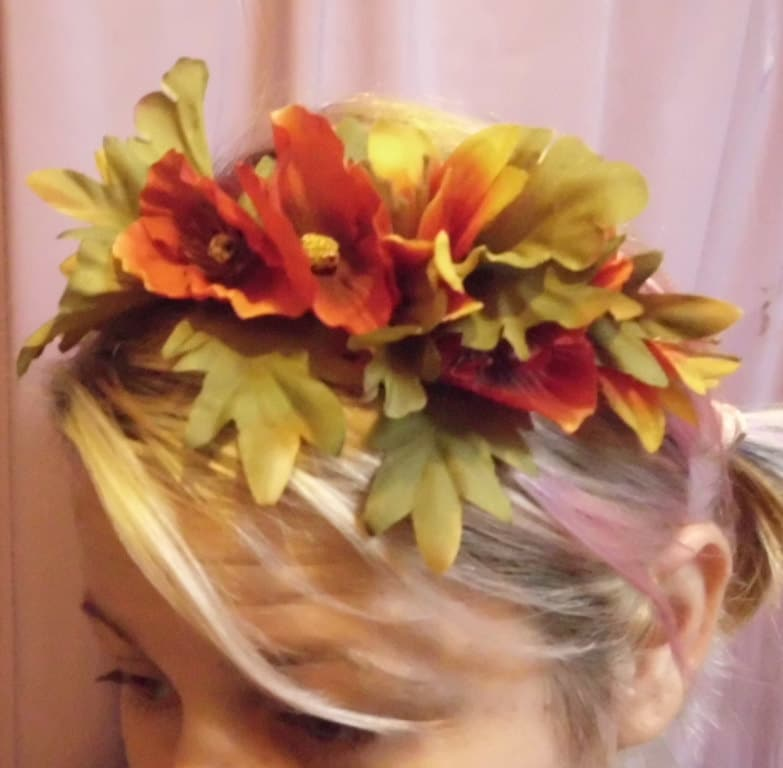 Flower Crown Sale Fall Fire Circlet Tiara Fairy Hair Accessories Halo Headband