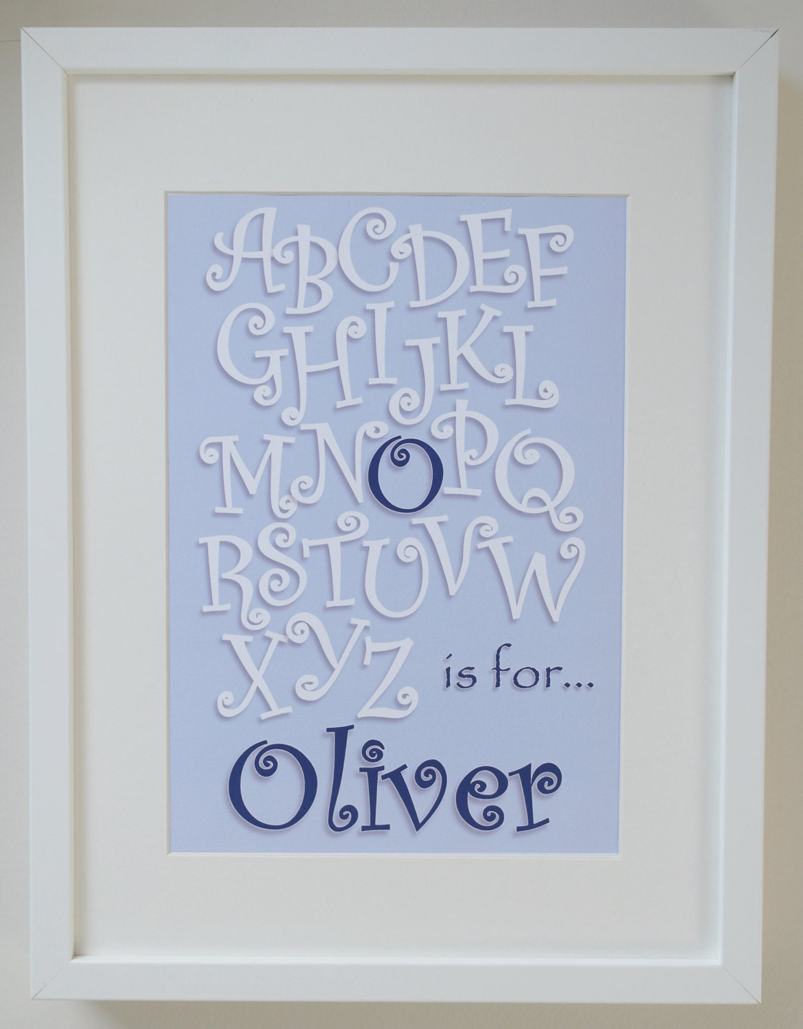 Printable Alphabet Poster  Personalised