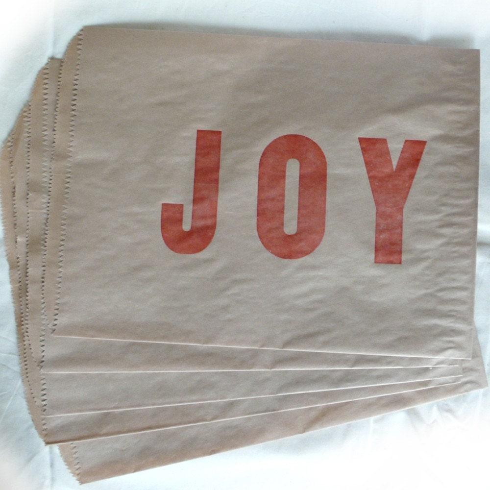 JOY Kraft Paper Bag (set of 5)