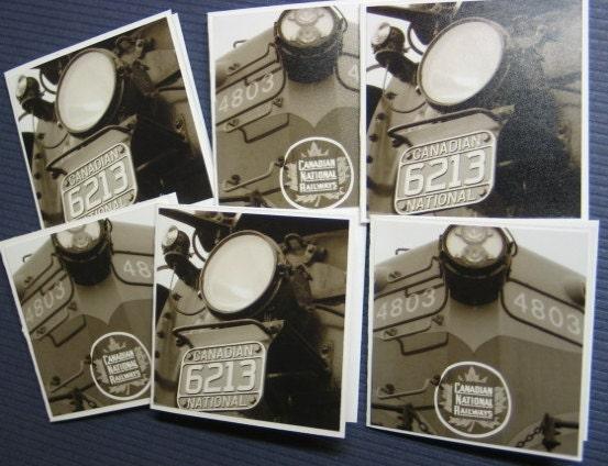 Train engine CN trains (6 mini Cards) / wheel mini cards / cactii cards / mixed photo cards - PhotographyBySandra