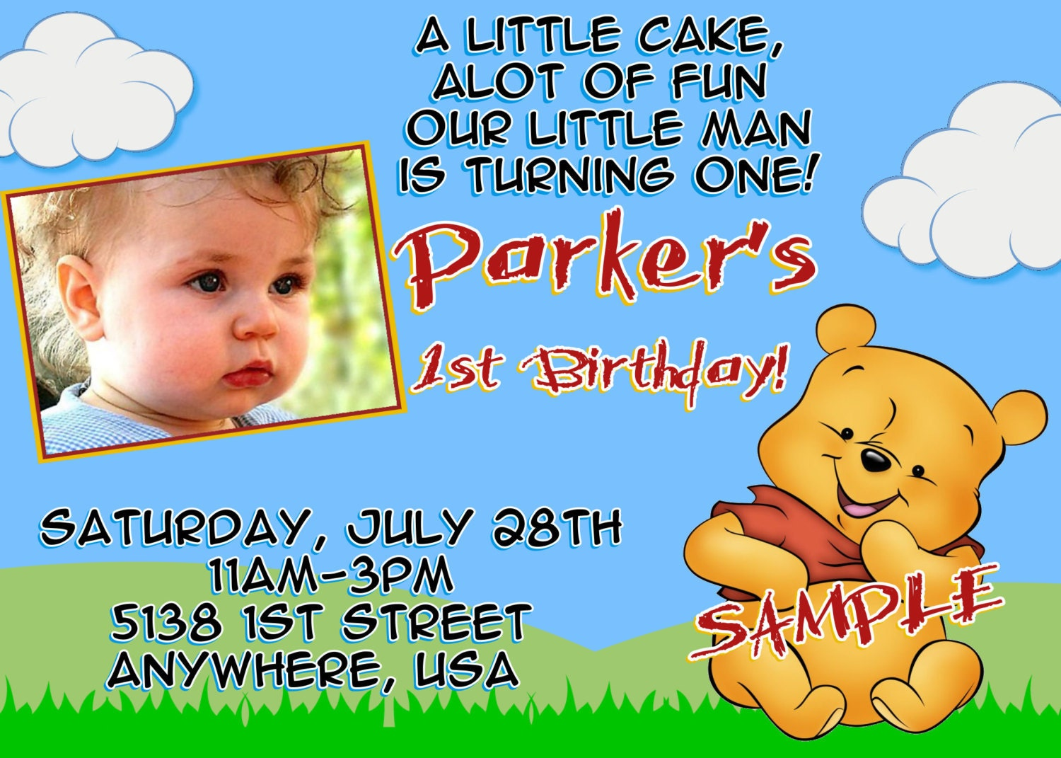 Winnie The Pooh Birthday Invitations Templates Images - Birthday invitation templates winnie pooh