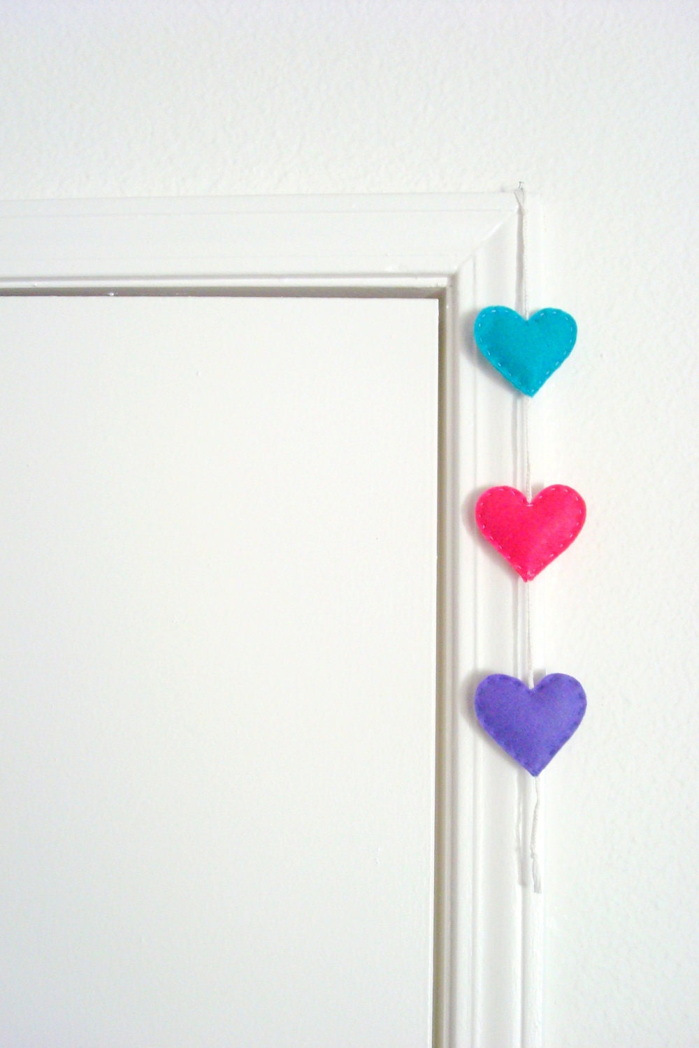 Heart Felt Garland Blue Pink Purple Home Decor